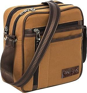 DAHSHA Canvas 5 Multi Pocket Sling Cross Body Travel Office Business Messenger one Side Shoulder Bag for Men & Women (25.5...