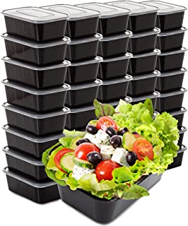 Food Containers Meal Prep Containers - 40 Pack Plastic Food Containers with Lids Food Prep Containers for Meal Prepping Plastic Food Storage Containers with Lids Plastic Containers (25 Ounce)