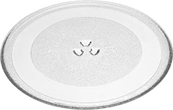 vhbw Placa de microondas de vidrio 32.4cm compatible con Amana MVH350SS, MVH350W microondas - plato giratorio con soporte en Y