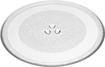 vhbw Placa de microondas de vidrio 32.4cm compatible con Profile PEB159CDNBB, PEB159CDNWW, PEB159CSNSS microondas - plato giratorio con soporte en Y