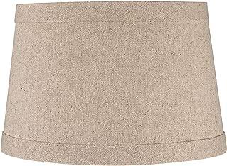 Springcrest Natural Linen Drum Shade 10x12x8 (Spider) - Springcrest