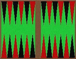 pepita Backgammon Red Black Green Needlepoint Canvas