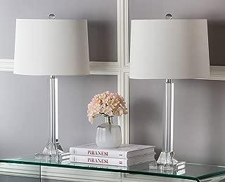 Safavieh Lighting Collection Tyrone Crystal Column 27-inch Table Lamp (Set of 2)