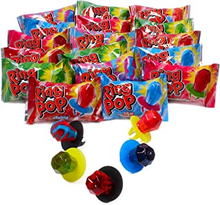 Ring POP Individually Wrapped Bulk Variety Halloween Party Pack - Candy Lollipop Suckers W/ Assorted Flavors, 50 Count (Pack of 1)