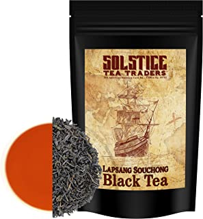 Lapsang Souchong Loose Leaf Tea (12 ounces), Traditional Chinese Pine-Smoked Black Tea Leaves Makes 130+ Cups of Tea