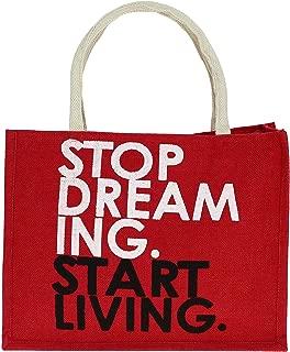 ShalinIndia - Jute Multipurpose Shopping Bag With Zipper