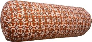 Panotophia Imbottito Cuscino da Meditazione Colore: Grigio//Giallo Cuscino per Yoga. 33 x 17 cm