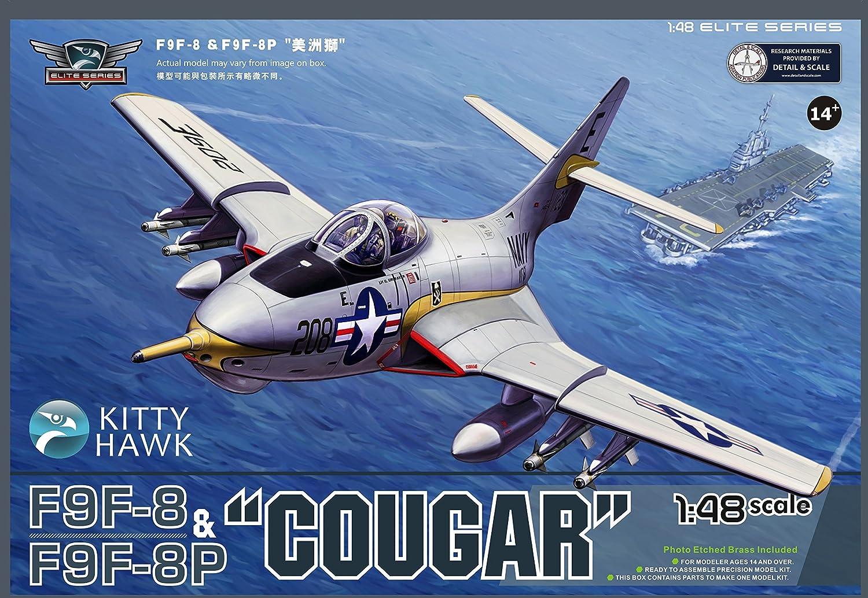 KH80127 1 48 Kitty Hawk F9F8   F9F8P Cougar MODEL BUILDING KIT