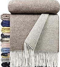 STTS International Cashmere deken wollen deken woondeken 100% merinowol - kasjmier - mix zeer zachte plaid knuffeldeken Fa...