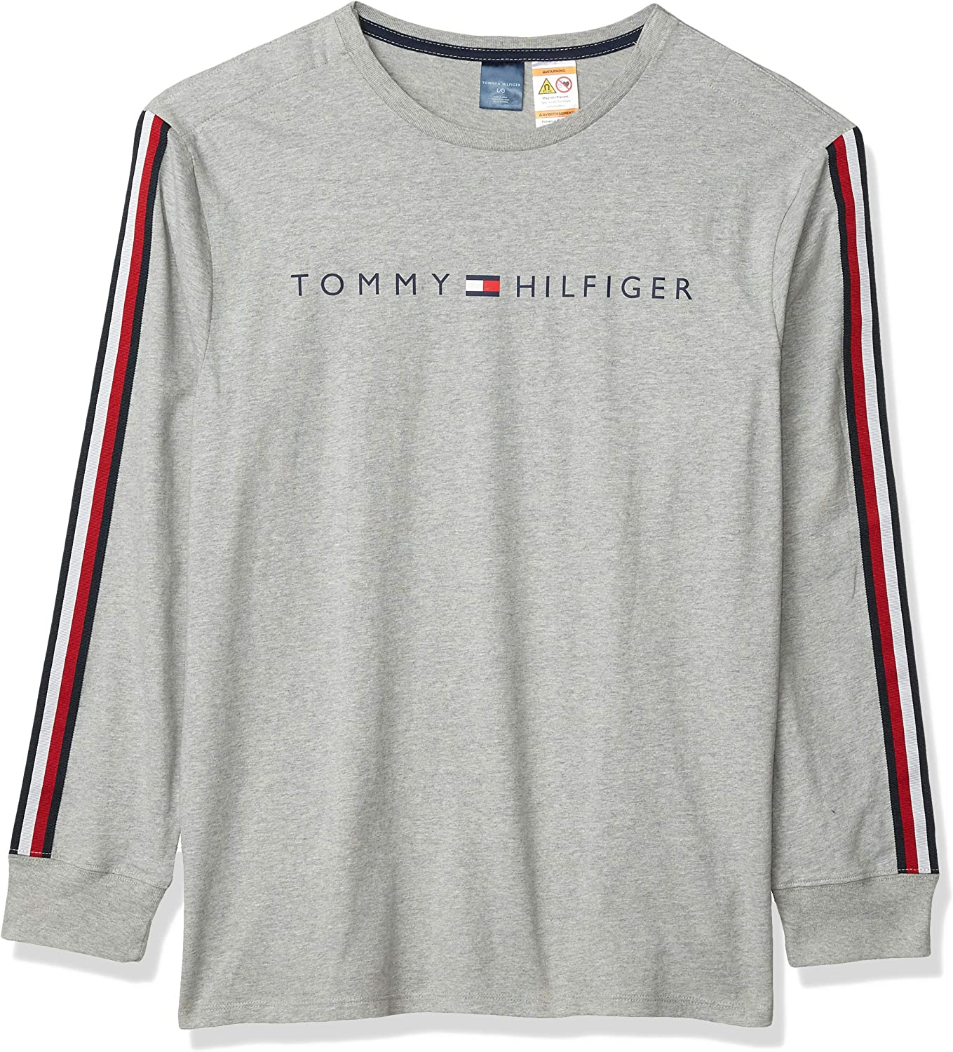 Tommy Hilfiger Men's Adaptive Long Sleeve 年中無休 T Br Shirt with Velcro お買い得品