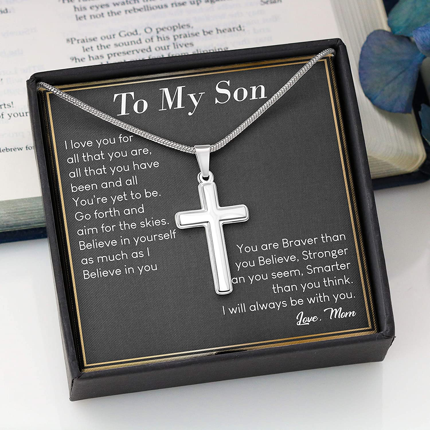 Son Necklace To My Son From Mom - Cross Necklace BB325