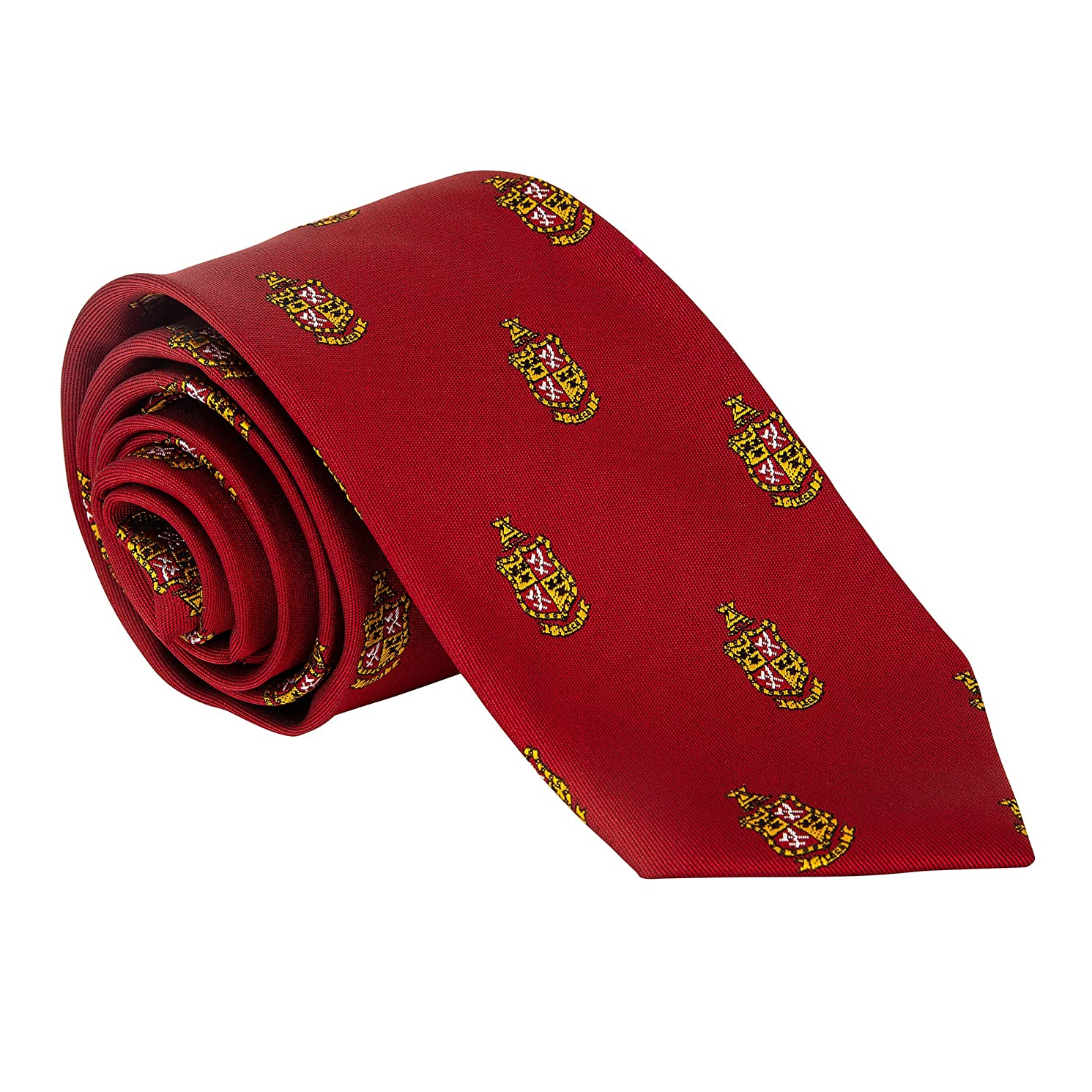Delta Chi Fraternity Necktie Tie Greek Formal Occasion Standard Length Width deltas deltas (Repeating Crest Necktie)