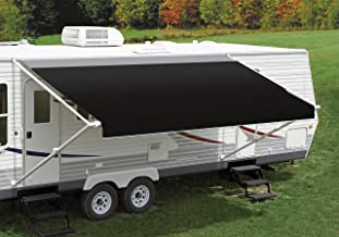 Carefree RV Awning Replacement Canopy for a 16' Awning Black Vinyl with Silver FLXguard Protective Wrap