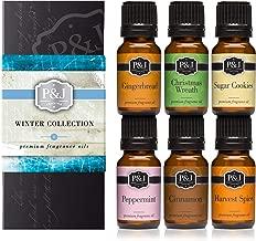 Winter Set of 6 Premium Grade Fragrance Oils – Cinnamon, Gingerbread, Sugar..