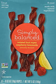 Simply Balanced Twisted Fruit Ropes - Raspberry Lemonade (8 Count)