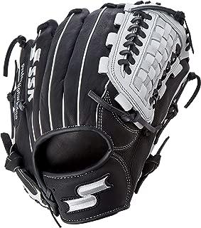 SSK Baseball Edge Pro Grid Gloves, Black/White, 12