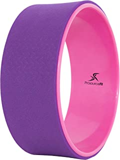 "Prosource Fit Yoga Wheel Prop 12"" for Improving Yoga Poses & Backbends, Flexibility, Balance, Stretching, Relaxation, Blac..."