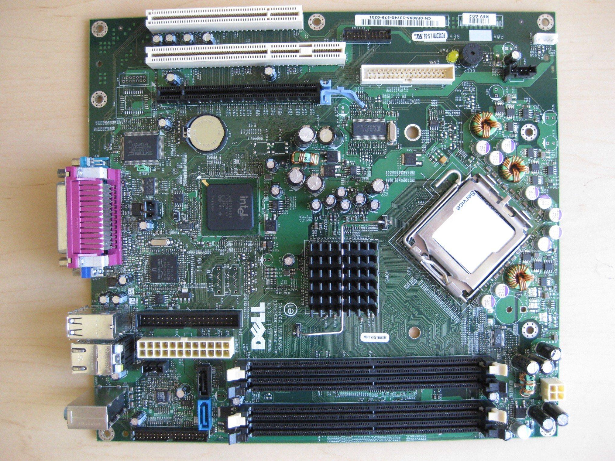 Dell Genuine FH884 ND237 F8096 GX620 Desktop DT Intel 945 Express LGA775 Socket 755 System Computer Logic Main System Board Compatible Part Numbers: ND237, F8096, FH884, HJ781, X9681, CJ335