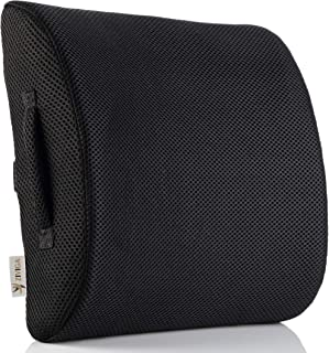 Lower Back Lumbar Support Pillow - Instant Pain Relief for Office Chair & Car Seat - Orthopedic Memory Foam Back Cushion for Improved Posture