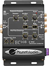 Planet Audio EC10B 2-Way Electronic Crossover With Remote Subwoofer Control
