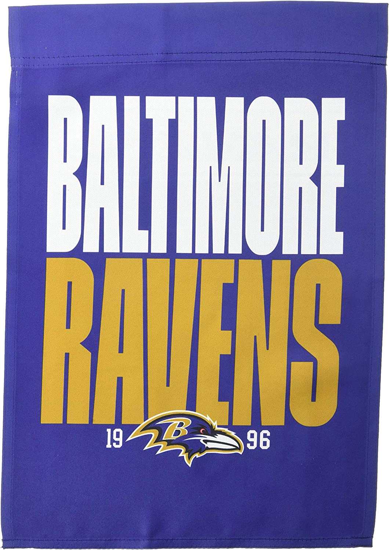 NFL Baltimore Ravens Unisex Double Sided Established Team Logo Garden Flag, Garden Flag 18
