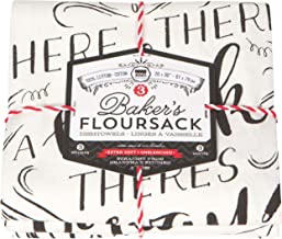 Now Designs Printed Baker's Floursack Kitchen Towels, Homemade Happiness