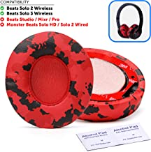 Wicked Cushions Beats Solo 2 Ear Pad Replacement - Compatible With Solo 2 & 3 WIRELESS On Ear Headphones | Red Camo