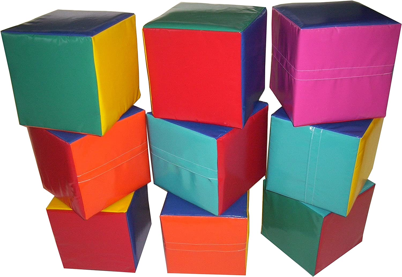 Set of 9 Soft Play Cubes