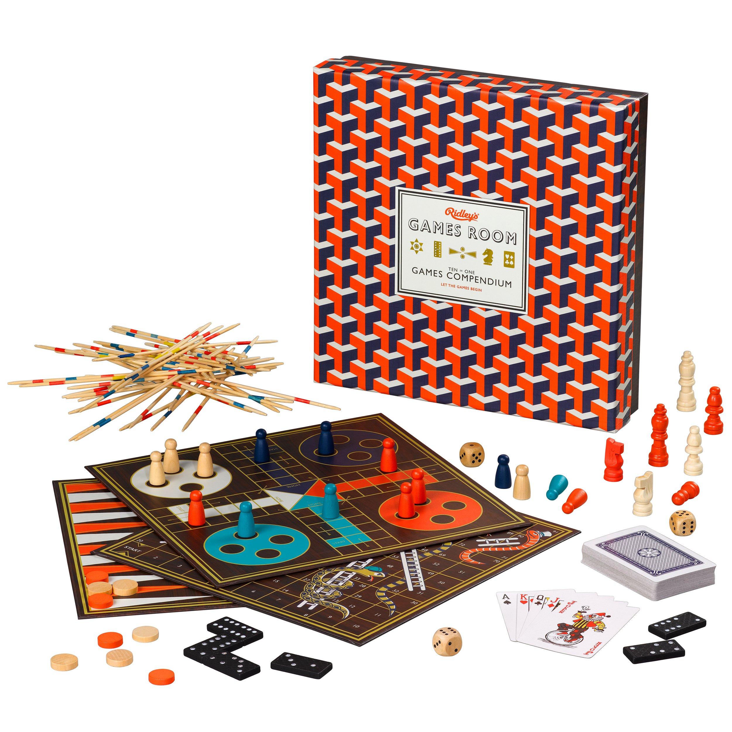 Ridleys Games Room | Compendium de Juegos | Diez Juegos Populares en uno: Amazon.es: Juguetes y juegos