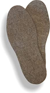 Alpaca & Wool Felted Sole Inserts for Boots & Shoes (Large - Womens 11/Mens 10)