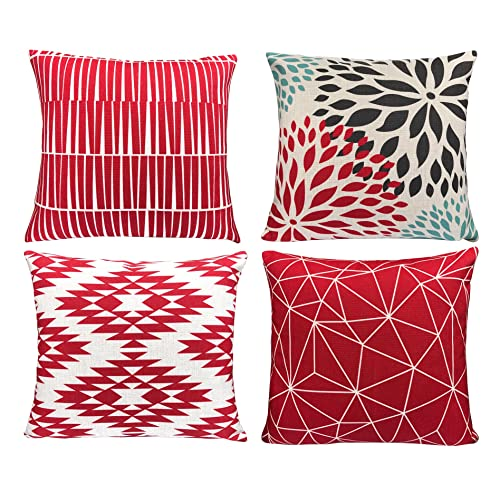 Modern Red Couch Pillow Amazon Com