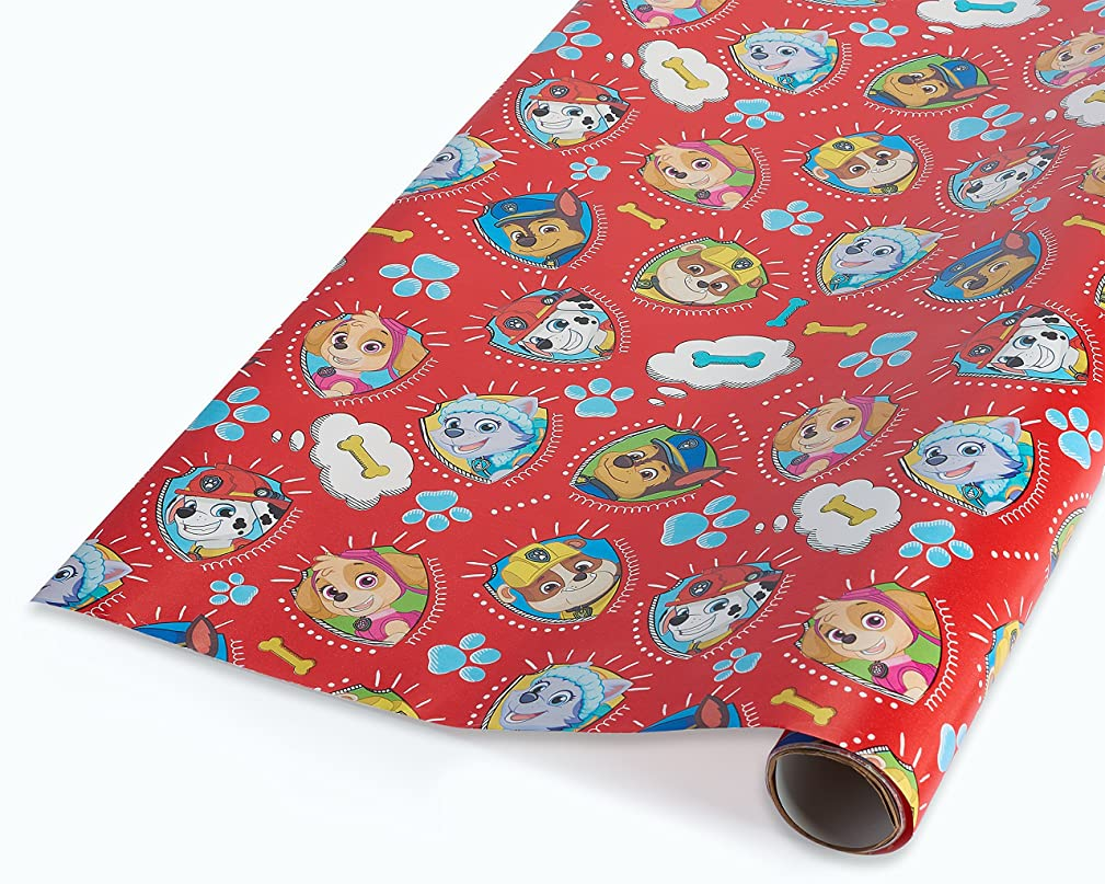 American Greetings Paw Patrol Wrapping Paper, 2.5 ft. x 9 ft.