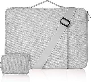 ZWOOS Maletin Portatil 15,6 Pulgadas, Resistente al Agua Maletín Mano Bolso Funda para Portátiles Compatible con MacBook P...