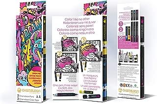 Chameleon Introductory Kit - 3 Chameleon Pens + 2 Chameleon Color Tops (Most Ideal Marker Set)