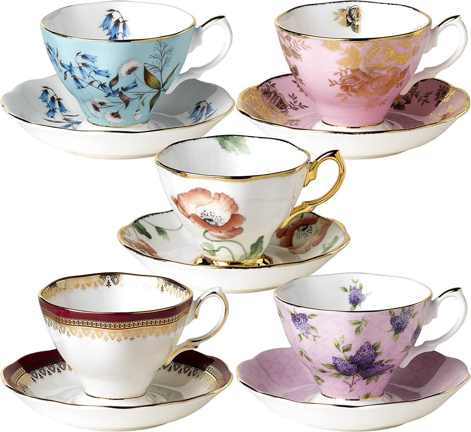 Royal Albert 100 Years Special price for a limited time of Teacups Saucers Elegant 1950 and
