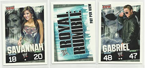 Three 2009 Topps WWE Slam Attax Evolution Trading Cards - Savannah - Royal Rumble - Gabriel