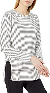 Amazon Brand - Daily Ritual Women's Terry Cotton and Modal Pullover with Side Cutouts