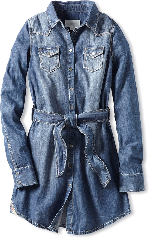 Diesel Big Girls' Daigis Denim Shirt Dress