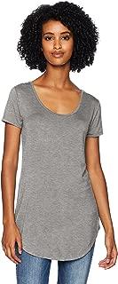 Amazon Brand - Daily Ritual Women's Jersey Short-Sleeve Scoop-Neck Longline T-Shirt
