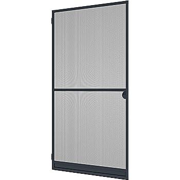 gris Porte coulissante moustiquaire Windhager 03844
