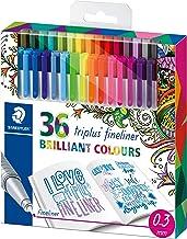 Staedtler Fineline Pen Triplus, 36 Assorted, Brilliant Colours JB, Set of 36 (334 C36JB)