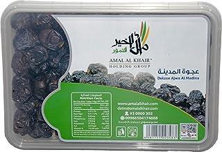 AMAL AL KHAIR Ajwa Al Madina Fresh Premium Quality Ajwa Dates - 2.2lb (1kg)