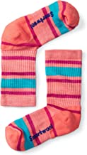 Smartwool Kids' Hiking Crew Socks - Striped, Lightly Cushioned Merino Wool Performance Socks