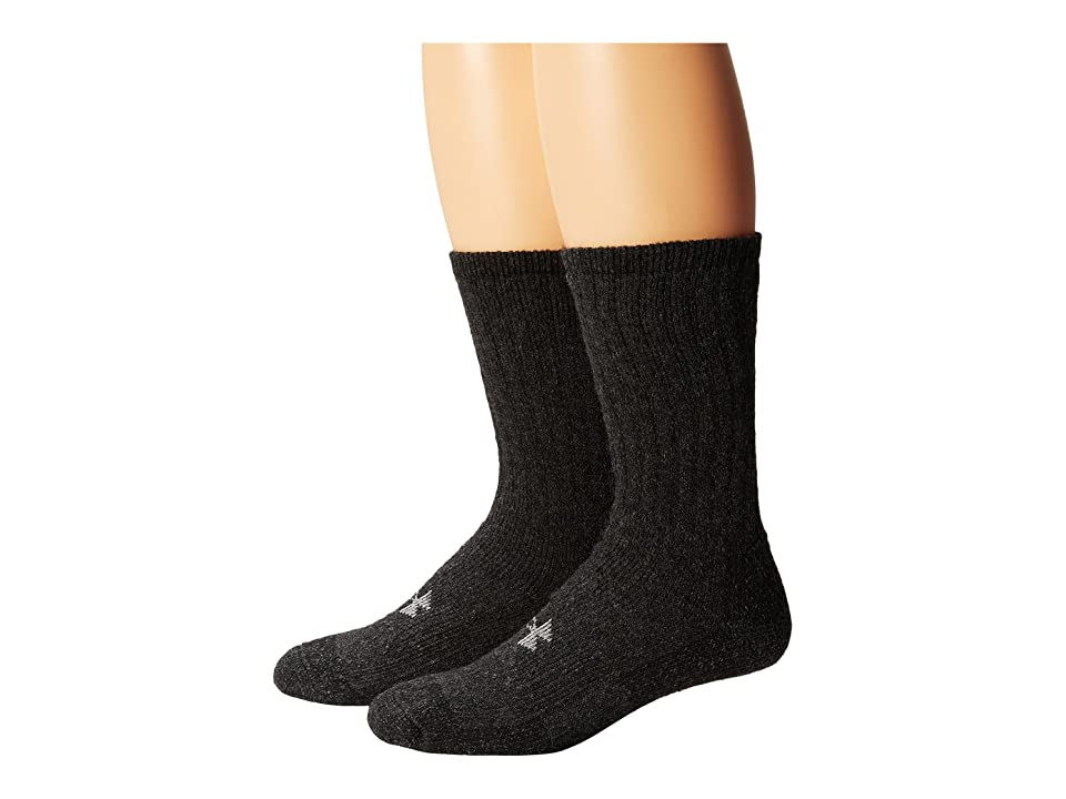 Under Armour UA 2-Pair Boot Crew (Black) Men's Crew Cut Socks Shoes