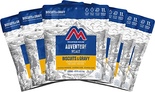 Mountain House Biscuits & Gravy   Freeze Dried Backpacking & Camping Food   Survival & Emergency Food