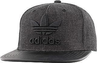 adidas Originals مردانه Trefoil Plus کلاه پیش ساخته ، جین سیاه / سیاه ، یک اندازه