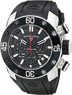 Swiss Legend Men's 10616SM-01-RDA Lion Pulse Analog Display Swiss Quartz Black Watch