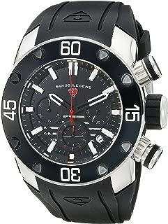 Swiss Legend Men's 10616SM-01-RDA Lion Pulse Analog Display Swiss Quartz Black Watch
