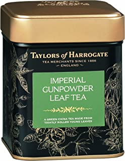 Taylors of Harrogate Imperial Gunpowder Green Tea Loose Leaf, 4.41 Ounce Tin (Pack of 2)