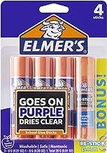 Elmer's Disappearing Purple Glue Sticks with Bonus Re-Stick Glue Stick, 3 + 1 Pack